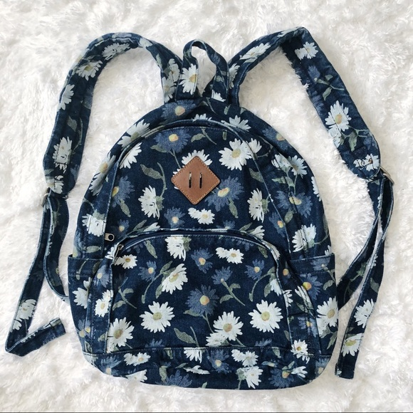 Bags   Denim Daisy Print Mini Backpack   Poshmark cc312462ce